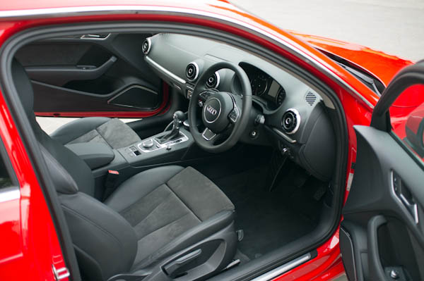 Audi A3 Red Interior Front