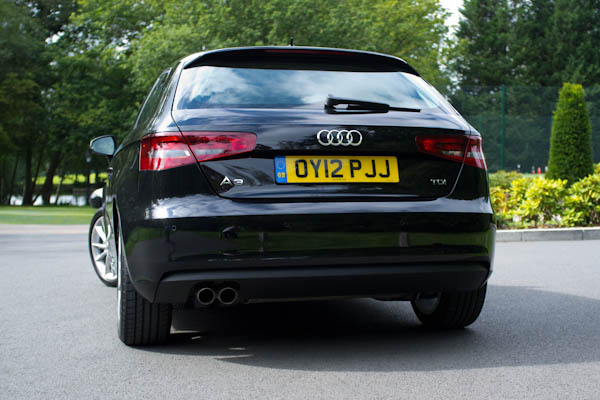 Audi A3 Black Rear