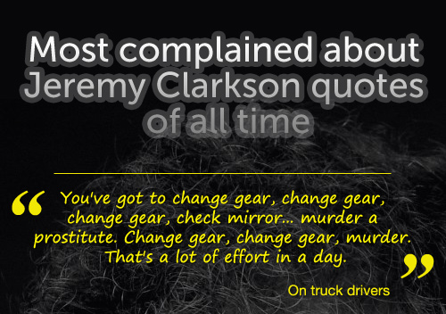 Most offensive Jeremy Clarkson quotes of all time