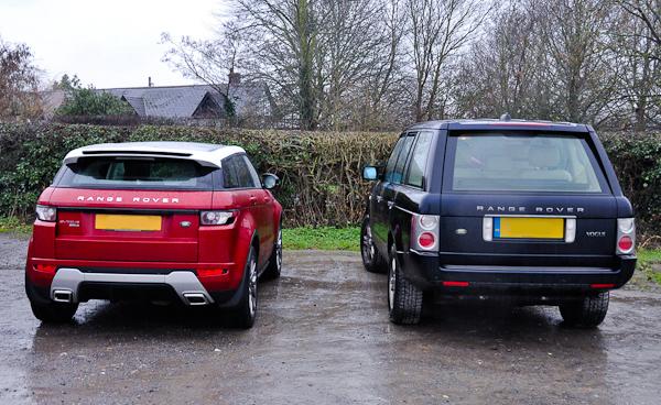 Evoque and Range Rover