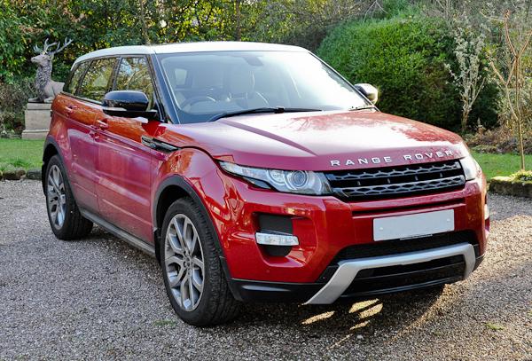 Red Range Rover Evoque Car Interior Design