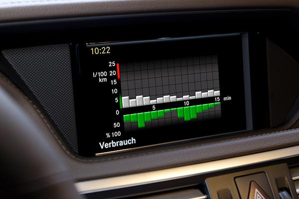 E-Class Hybrid display