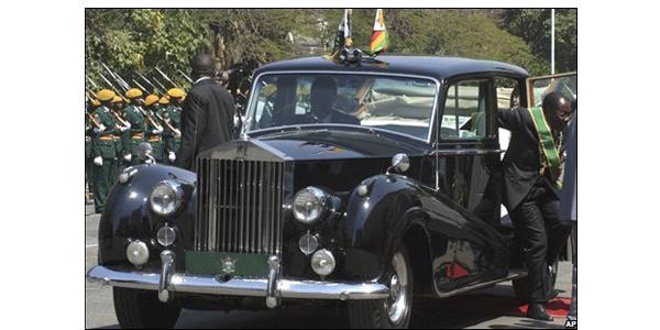 Mugabe's car