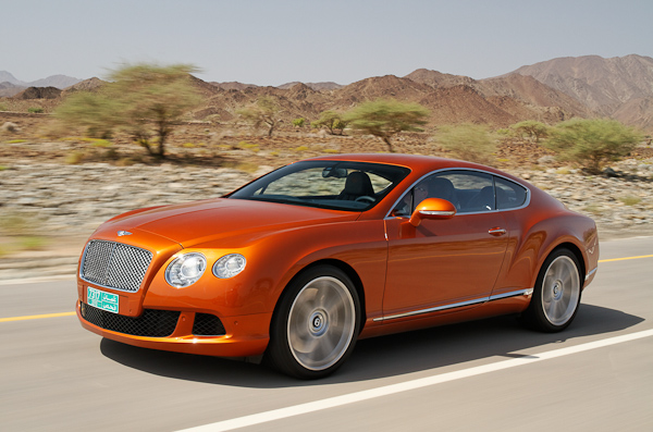 Orange Flame Bentley Continental GT