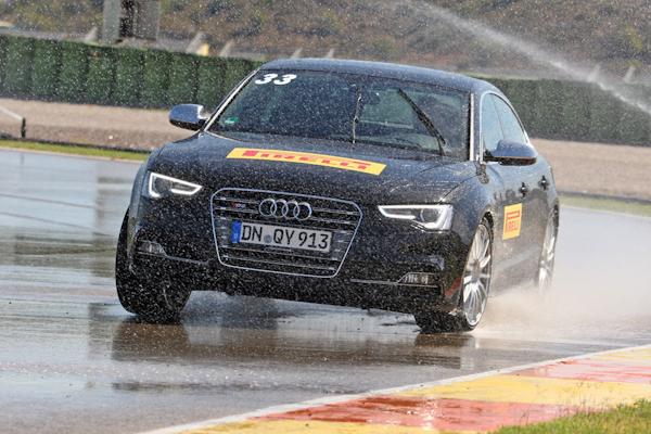 Pirelli wet testing