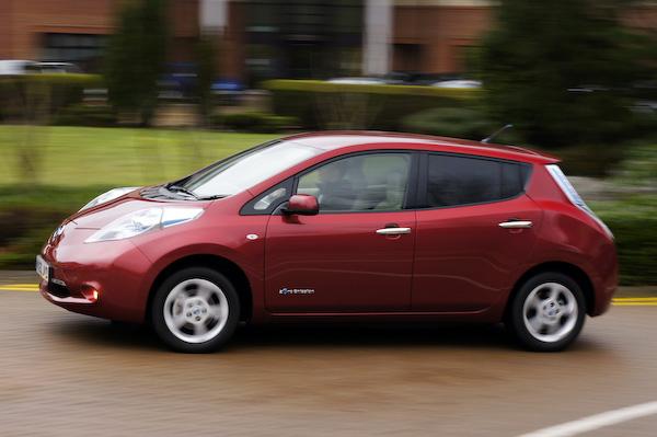 Nissan Leaf red side
