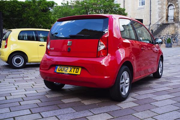 seat mii rear red