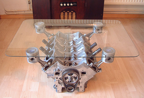 We Particularly Like This Converted Car Bonnet Coffee Table