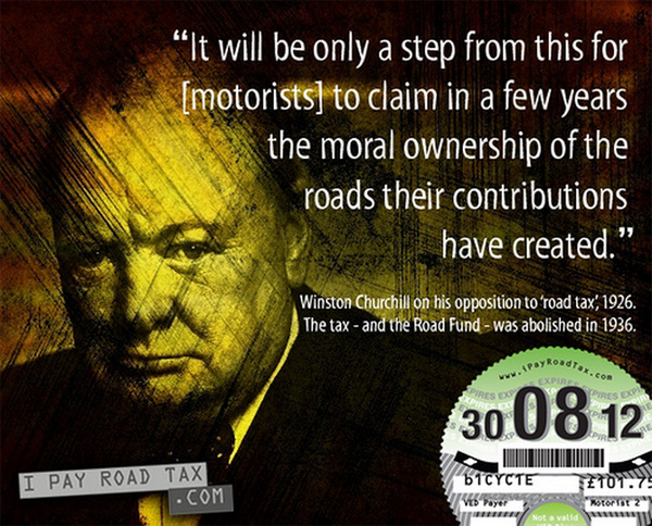 Churchill - I pay road tax