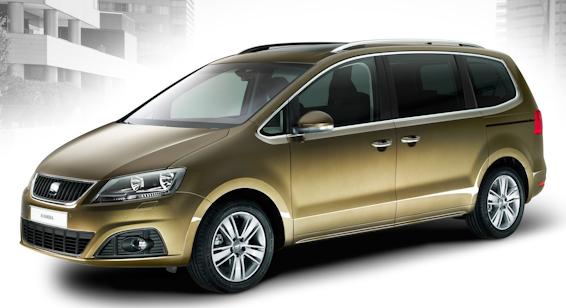 new SEAT Alhambra gold