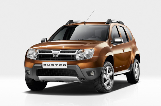 Dacia duster brown front on